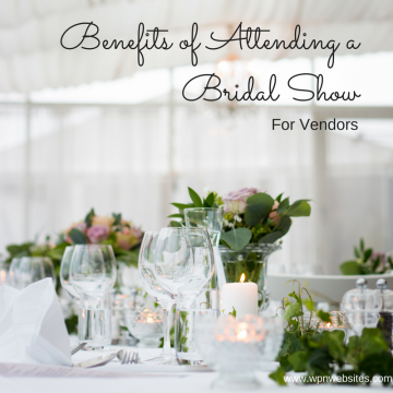 Bridal shows and expos are full of opportunities for wedding vendors. If you haven't ever attended a bridal show, you should consider it.