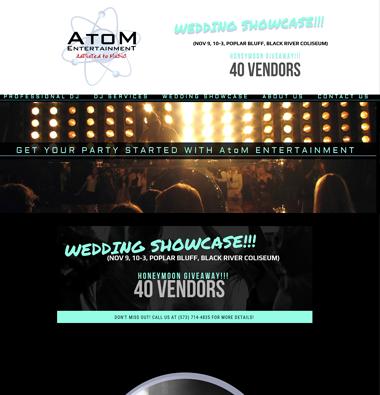 Atom entertainment website