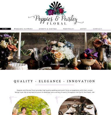 poppies and paisley events website