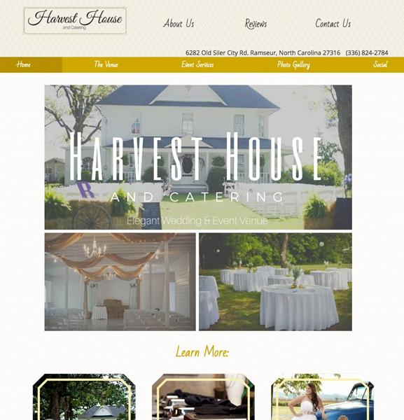 wedding venue catering websites website design layouts