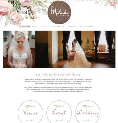 image of the melady house website