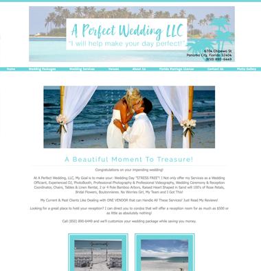 a perfect wedding website