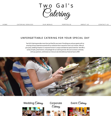 image of two gals catering websites