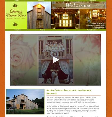 image of queens chestnut barn website