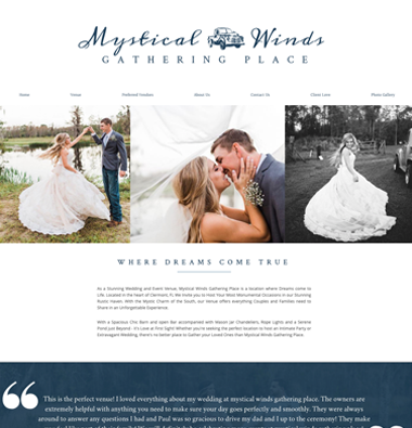 Picture of mystical winds gathering place website