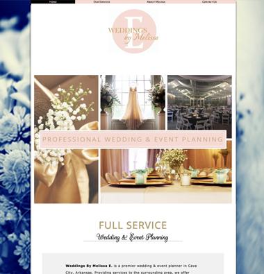 image of wedding By melissae website