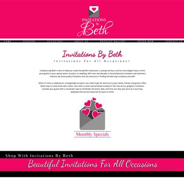 invitation by beth website